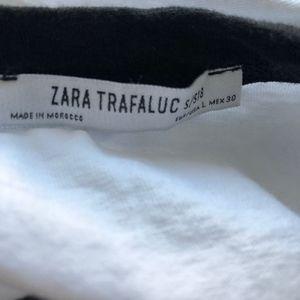Zara Tops - NEW ZARA TRF REINVENT YOURSELF BLACK WHITE RINGER